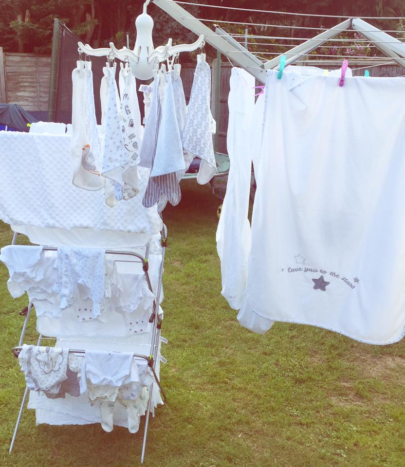 Little clothes on our washing line.