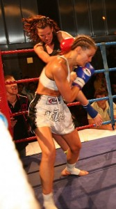 WPKL British title fight against Bonny Van Ortmerson April 2008.