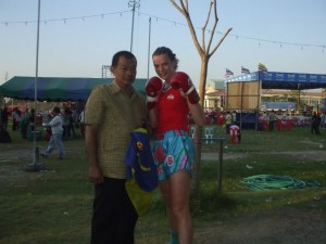 After a win in Bangkok with my trainer Pimu in 2008.