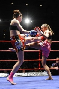 Muay Thai Legends in Croydon, U.K against Canadian opponent Sandra Bastian. February 2009.