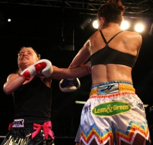 The Reebok Stadium, Bolton, U.K fighting Sarah McCarthy. May 2009.