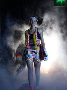 Ring entrance at the Reebok stadium fighting Sarah McCarthy May 2009.