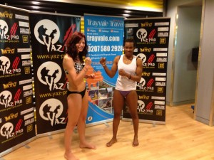 Weigh in day for world title fight against Elsa Hemat from France.