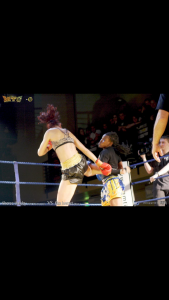 World title fight February 2013 in London, UK against Elsa Hemat from France.